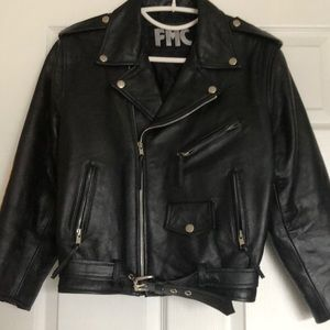 Jackets & Blazers - FMC Classic Black Leather Motorcycle Jacket